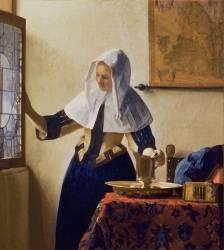 La jeune femme à l'aiguière (Vermeer Johannes) - Muzeo.com