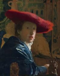La Jeune fille au chapeau rouge (Johannes Vermeer) - Muzeo.com