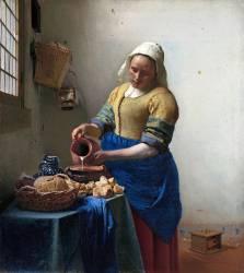 La laitière (Johannes Vermeer) - Muzeo.com