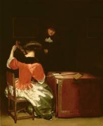 La Leçon de Musique (Gérard Ter Borch) - Muzeo.com