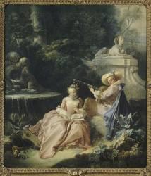 La leçon de musique (François Boucher) - Muzeo.com