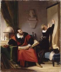 La leçon d'Henri IV (Alexandre-Evariste Fragonard) - Muzeo.com