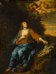 La Madeleine avec des angelots (Antoon Van Dyck) - Muzeo.com