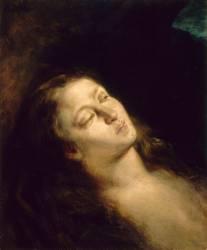 La Madeleine dans le désert (Eugène Delacroix) - Muzeo.com