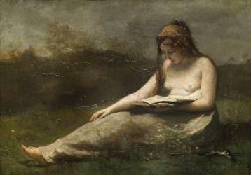 La Madeleine lisant (Jean-Baptiste Camille Corot) - Muzeo.com