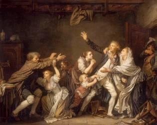 La malédiction paternelle. Le fils ingrat (Jean-Baptiste Greuze ) - Muzeo.com