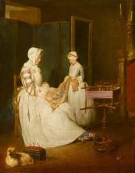La Mère laborieuse (Chardin Jean Baptiste Siméon) - Muzeo.com