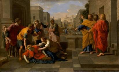 La Mort de Saphira (Nicolas Poussin) - Muzeo.com