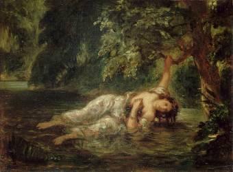 La mort d'Ophélie (Eugène Delacroix) - Muzeo.com