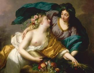 La Paix ramenant l'Abondance (Elisabeth Vigée Le Brun) - Muzeo.com
