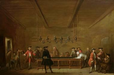 La Partie de billard (Chardin Jean Baptiste Siméon) - Muzeo.com