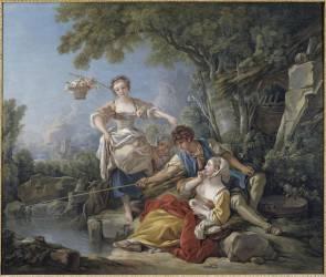 La pêche à la ligne (François Boucher) - Muzeo.com