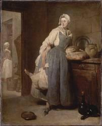 La Pourvoyeuse (Jean Siméon Chardin) - Muzeo.com