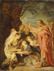 La résurrection de Lazare, esquisse pour le tableau du Musée de Berlin (Rubens Pierre Paul) - Muzeo.com