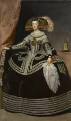 La reine Marie-Anne d'Autriche (Diego Vélasquez) - Muzeo.com