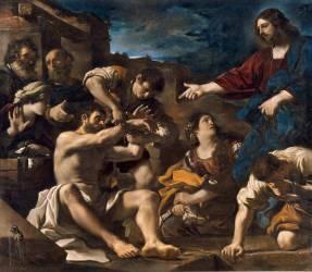 La Resurrection de Lazare (Le Guerchin) - Muzeo.com