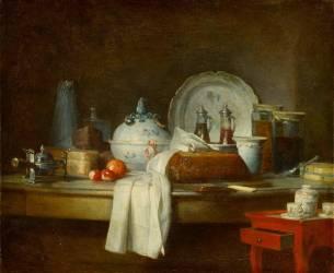 La Table d'office dit les Débris d'un déjeuner (Chardin Jean Siméon) - Muzeo.com