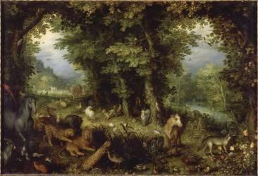 La Terre ou le Paradis terrestre (Jan Brueghel l'Ancien) - Muzeo.com