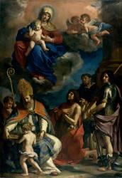 La Vierge à l'Enfant avec les saints protecteurs de la ville de Modène (Le Guerchin) - Muzeo.com