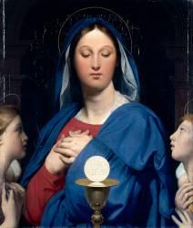 La Vierge à l'Hostie (Jean-Auguste-Dominique Ingres) - Muzeo.com