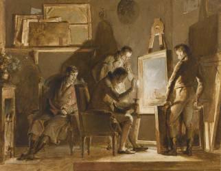 La Visite dans l'atelier (Alexandre-Evariste Fragonard ) - Muzeo.com