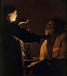 L'Apparition de l'ange à saint Joseph, dit aussi Le Songe de saint Joseph (Georges de La Tour) - Muzeo.com