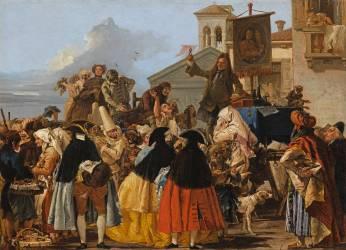 L'Arracheur de dents (Tiepolo Gian Domenico) - Muzeo.com