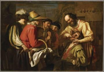 L'Arracheur de dents (Gerrit Van Honthorst) - Muzeo.com