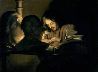 L'artiste au Travail (Gerrit Van Honthorst) - Muzeo.com