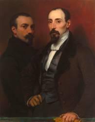 L'artiste et son frère Achille (Devéria Eugène) - Muzeo.com