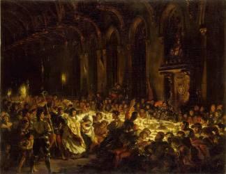 L'Assassinat de l'évêque de Liège (Eugène Delacroix) - Muzeo.com