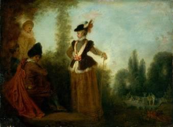 L'Aventurière (Watteau Antoine) - Muzeo.com