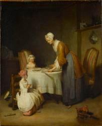Le Bénédicité (Jean-Baptiste-Siméon Chardin) - Muzeo.com