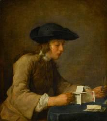 Le château de cartes (Chardin Jean Baptiste Siméon) - Muzeo.com