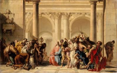 Le Christ et la femme adultère (Tiepolo Gian Domenico) - Muzeo.com