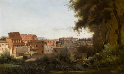 Le Colisée, vue des jardins Farnèse (Jean-Baptiste Camille Corot) - Muzeo.com