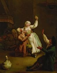 Le couple heureux (Pietro Longhi) - Muzeo.com