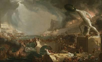 Le cours de l'Empire : la Destruction (Thomas Cole) - Muzeo.com