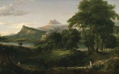 Le cours de l'Empire : l'état pastoral (Thomas Cole) - Muzeo.com