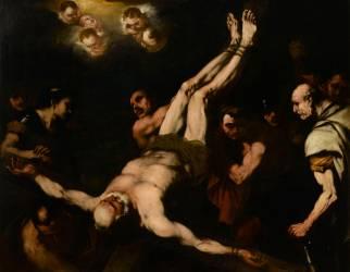 Le crucifiement de saint Pierre (Luca Giordano) - Muzeo.com