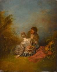 Le Faux pas (Antoine Watteau) - Muzeo.com