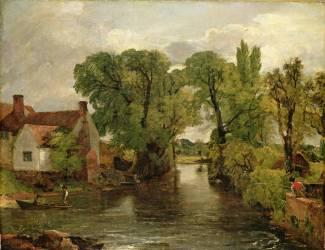 Le Fleuve du Moulin (John Constable) - Muzeo.com