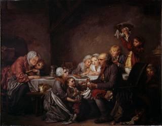 Le gâteau des rois (Jean-Baptiste Greuze ) - Muzeo.com