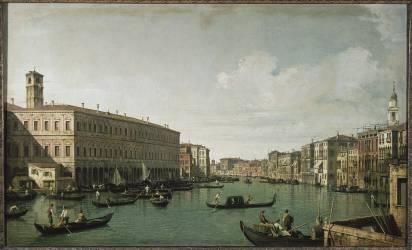 Le Grand Canal, vu du pont du Rialto (Canaletto Antonio) - Muzeo.com