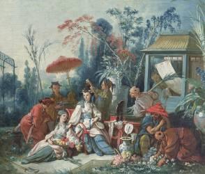 Le Jardin chinois (François Boucher) - Muzeo.com