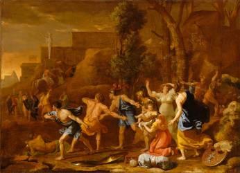Le jeune Pyrrhus sauvé (Poussin Nicolas) - Muzeo.com