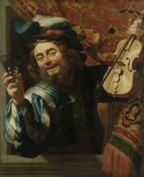 Le Joyeux violoniste (Gerrit Van Honthorst) - Muzeo.com