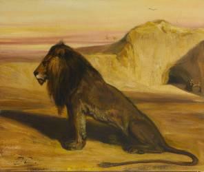 Le lion de saint Jérôme (Alexandre Gabriel Decamps) - Muzeo.com