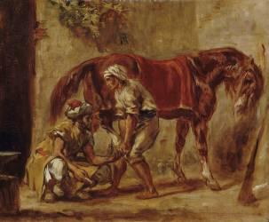 Le Maréchal-Ferrant (Delacroix Eugène) - Muzeo.com