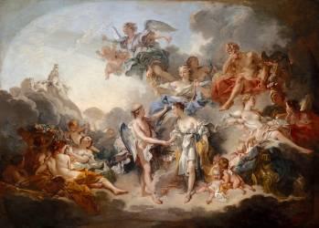 Le mariage de Psyché et de l'Amour (François Boucher) - Muzeo.com